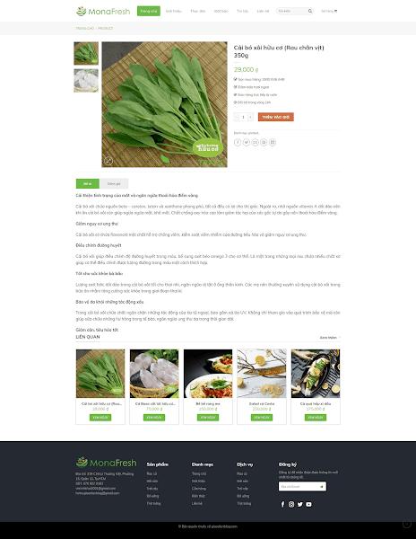 Theme blogger bán hàng nông sản sạch