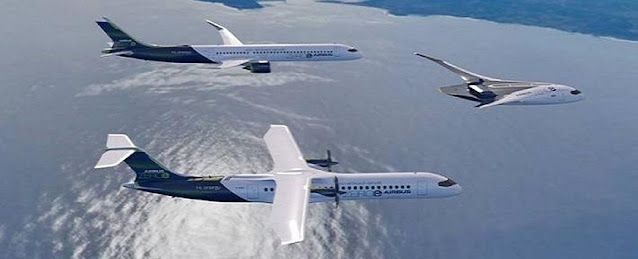 Zero-emission aircrafts of Airbus
