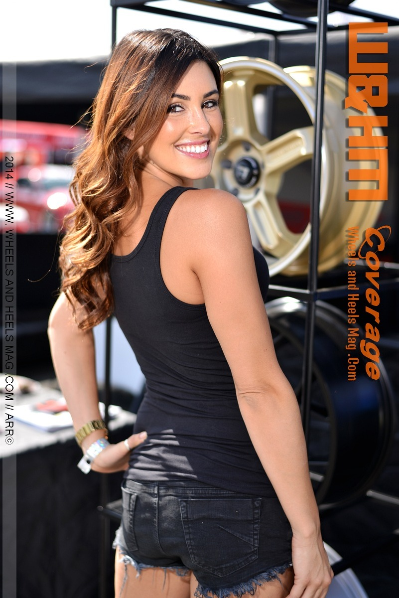 Super GorgeousO Olivia Korte Wheels and Heels Magazine Cover Model for Motegi Racing at 2014 Formula Drift Irwindale @_oko_