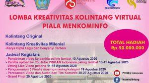 PINKAN Indonesia bersama Pemprov Sulut Gelar Lomba Kreativitas Kolintang Virtual Piala Menkominfo