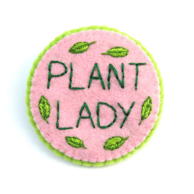 DIY Embroidered Plant Lady Brooch