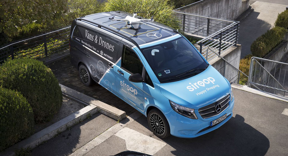 Mercedes Launches Drone Delivery Service In Zurich