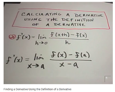 AP Calculus : Traditional Limit Definition of a Derivative