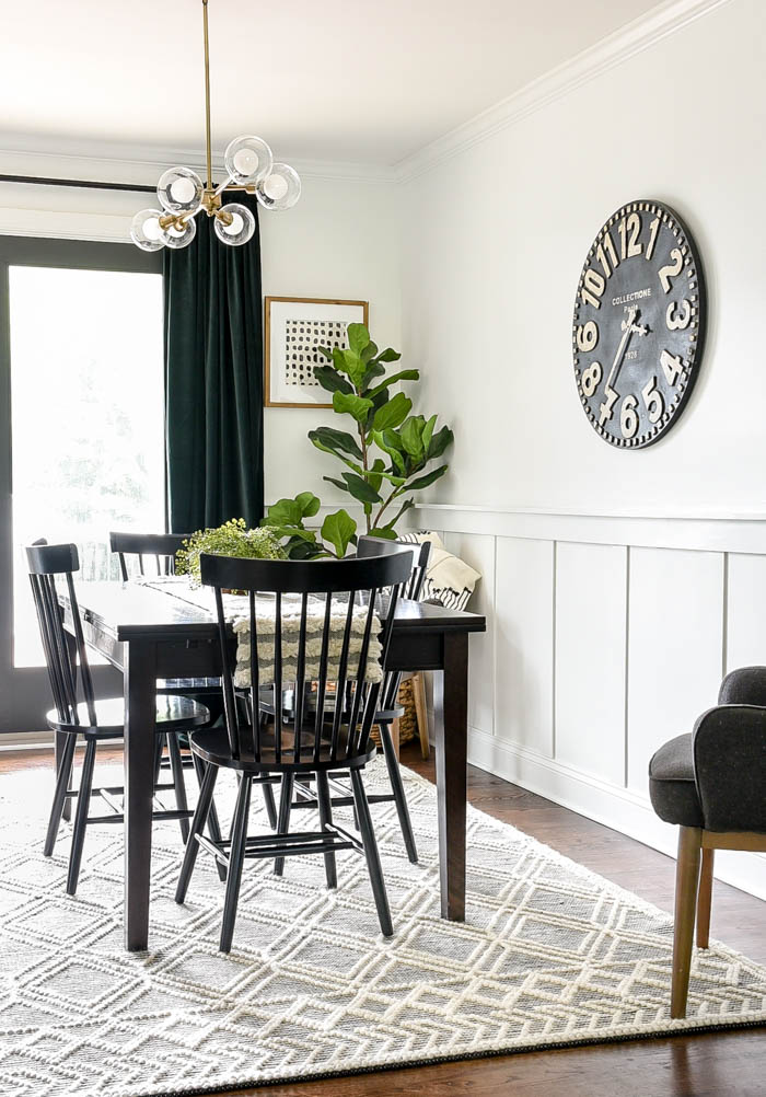 Vintage modern white dining room