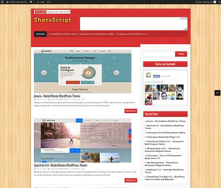 ShareScript v1.0 WordPress theme for Blog and Magazine