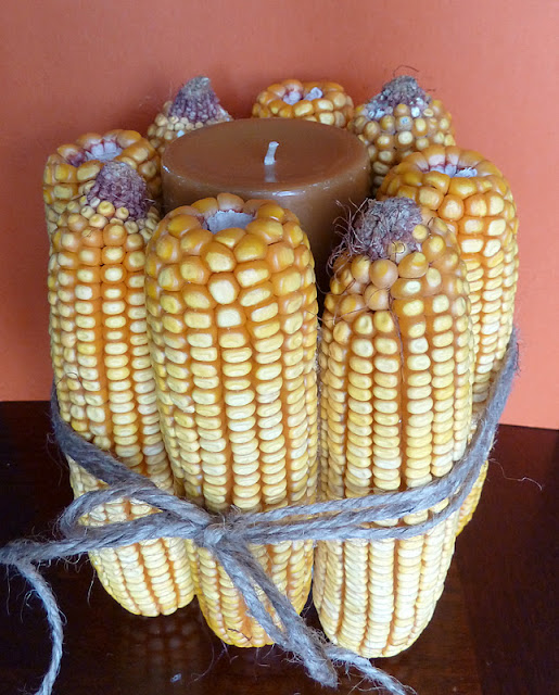 Corn Cob Candle | #diy #thanksgiving #thanksgivingtablescape