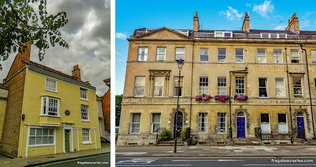 Casas de Jane Austen em Winchester e em Bath, Inglaterra