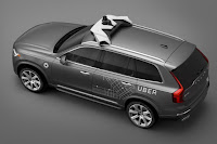 Volvo XC90 Uber Prototype (2016) Rear Side