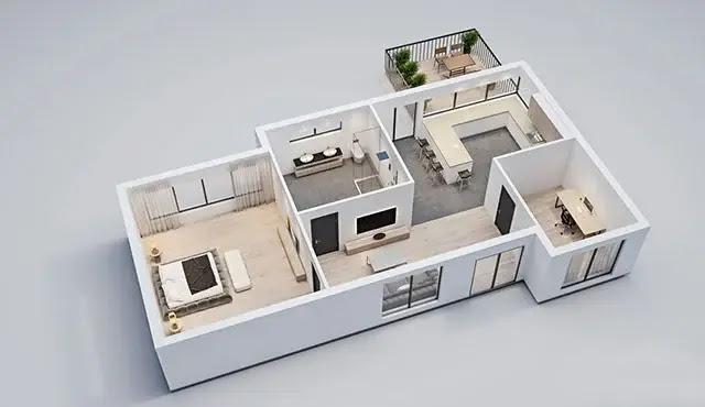Rekomendasi desain rumah sederhana 6x12 - Bagian Dalam
