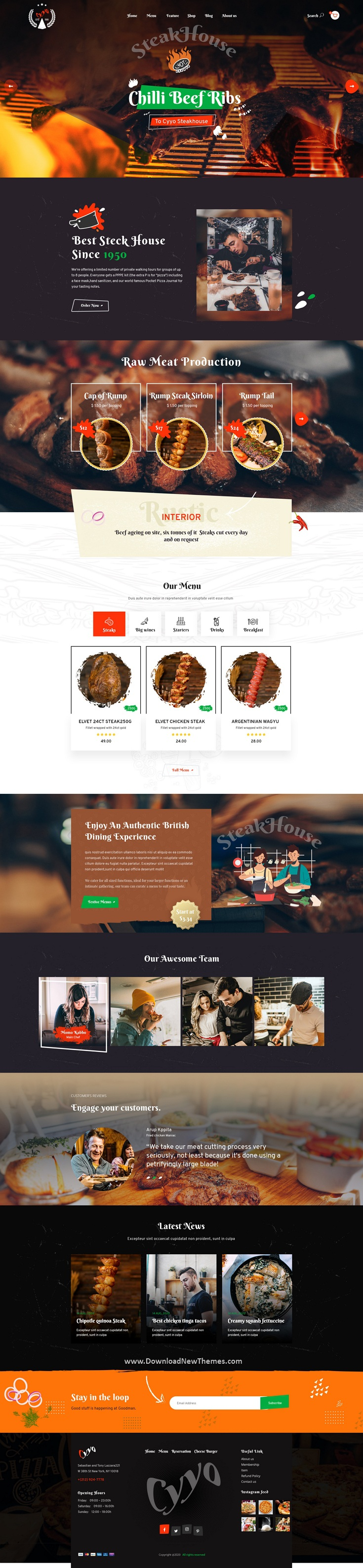 Multipurpose Food & Bakery PSD Template