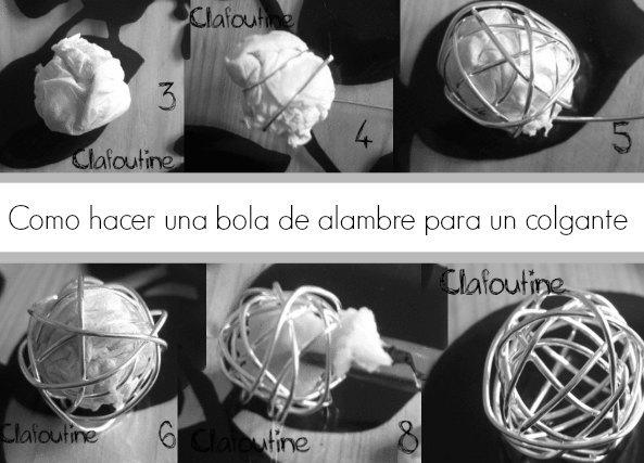 Como hacer una bola de alambre para colgante