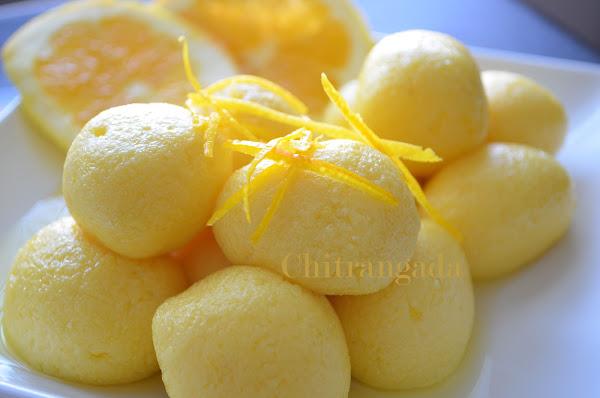 Komolabhog, orange flavored rosogolla