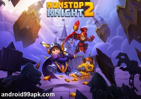 لعبة Nonstop Knight 2 v1.6.5 مهكرة بحجم 101 MB للأندرويد