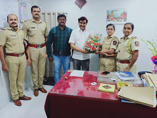 वरिष्ठ पुलिस निरीक्षक सुनीता नटे का अभिनंदन | #NayaSaberaNetwork