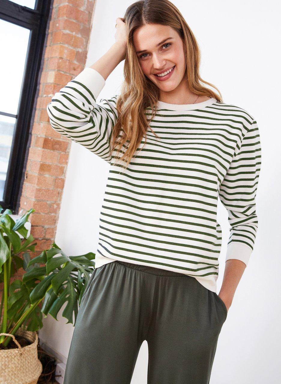 my midlife fashion, Baukjen samara organic sweatshirt