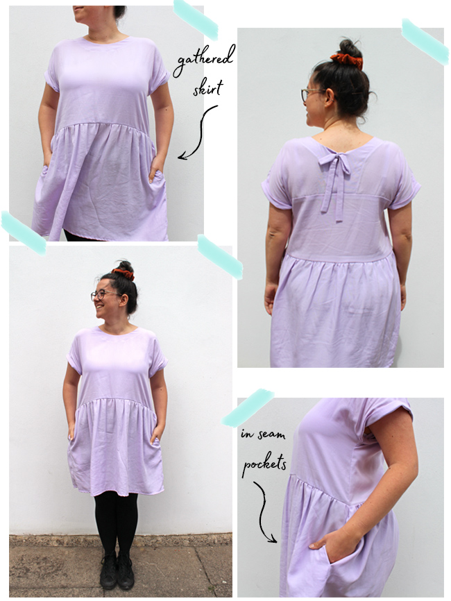 Jenny's Gathered Stevie Hack - Sewing Pattern by Tilly and the Buttons