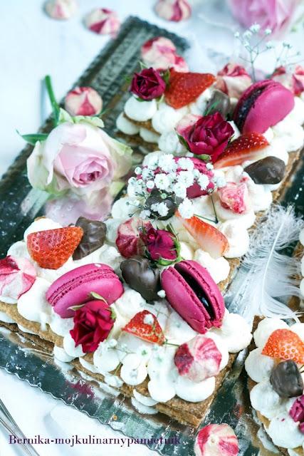 number cake, trot, urodziny, ciasto, deser, bernika, kulinarny pamietnik