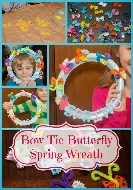 How to Make a Simple Bow Tie Butterfly Spring Wreath