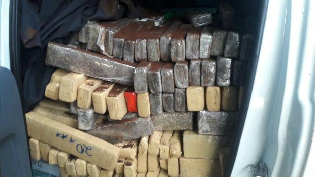 Droga apreendida pelos policiais durante a operação (Foto: divulgação/ SSP)