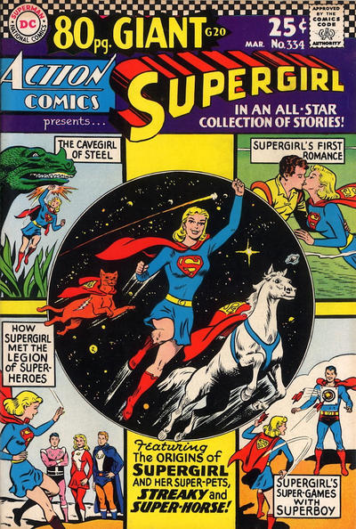 Episode #394 Part II: Superman Family Comic Book Cover Dated March 1966: Action Comics #334!