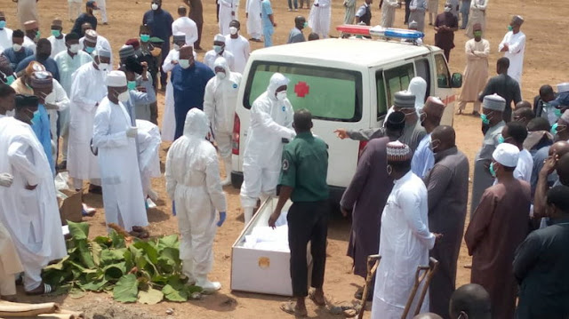 Presidential aides, others at Kyari's burial test negative