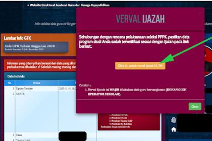 Cara VaeVal Ijazah Di Info GTK Untuk PPPK