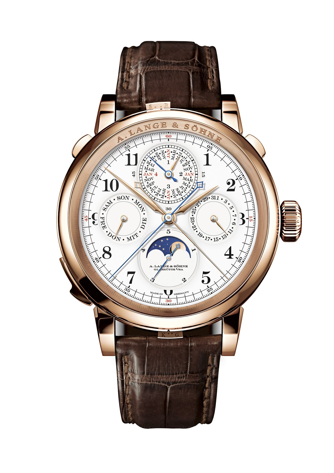 2d7f9144526 A. Lange & Söhne Grand Complication The German watch brand has developed a  timepiece with a host of complications that include chiming mechanism with  grand ...