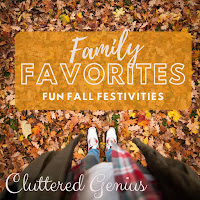 Blog With Friends, a multi-blogger project based post incorporating a theme, Gratitude.  | Family Favorites, Fun Fall Festivities by Lydia of Cluttered Genius | Featured on www.BakingInATornado.com
