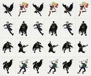 Sheet of twenty-four Batman Valentine's Day Tattoos