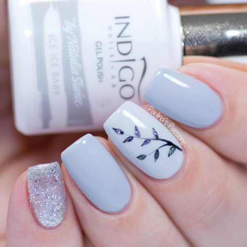 Sparkling Winter Leave Nails Learn Step By Step Nail Design With