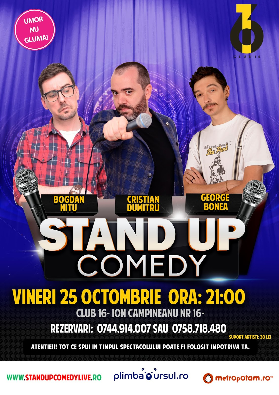 Stand-Up Comedy  Bucuresti Vineri 25 Octombrie 2019