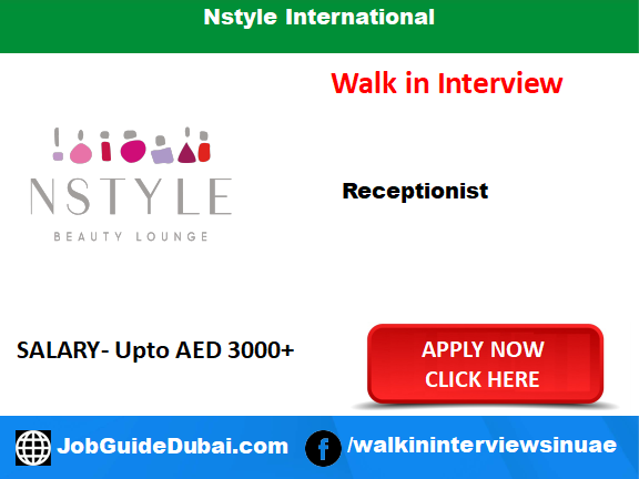 Nstyle International career for Receptionist job in Dubai