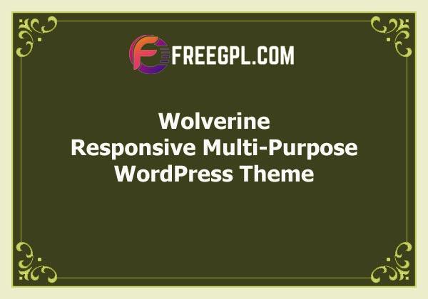 Wolverine – Responsive Multi-Purpose Theme Free Download