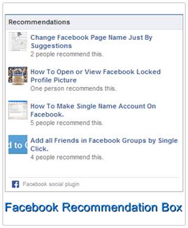 facebook recommendation box plugins