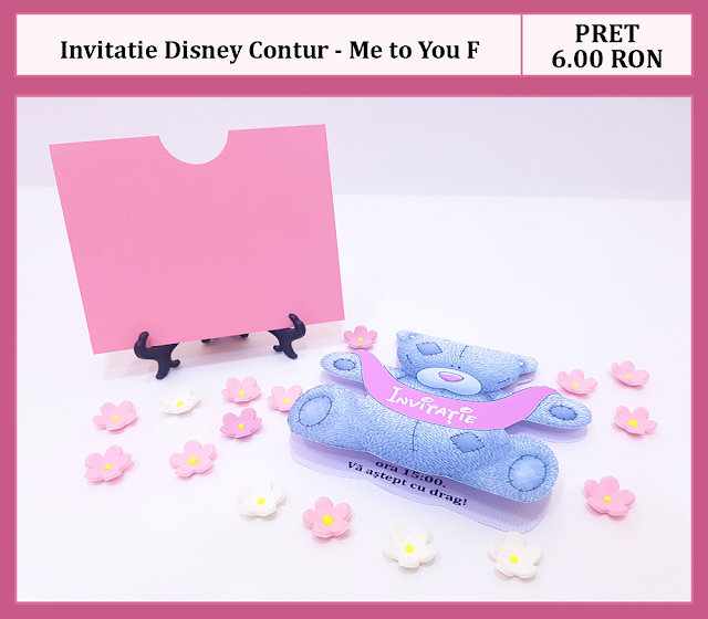 invitatii botez contur Me to You