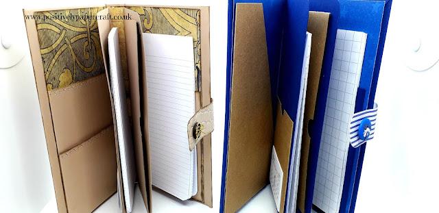 Positivelypapercraft handmade folio organiser