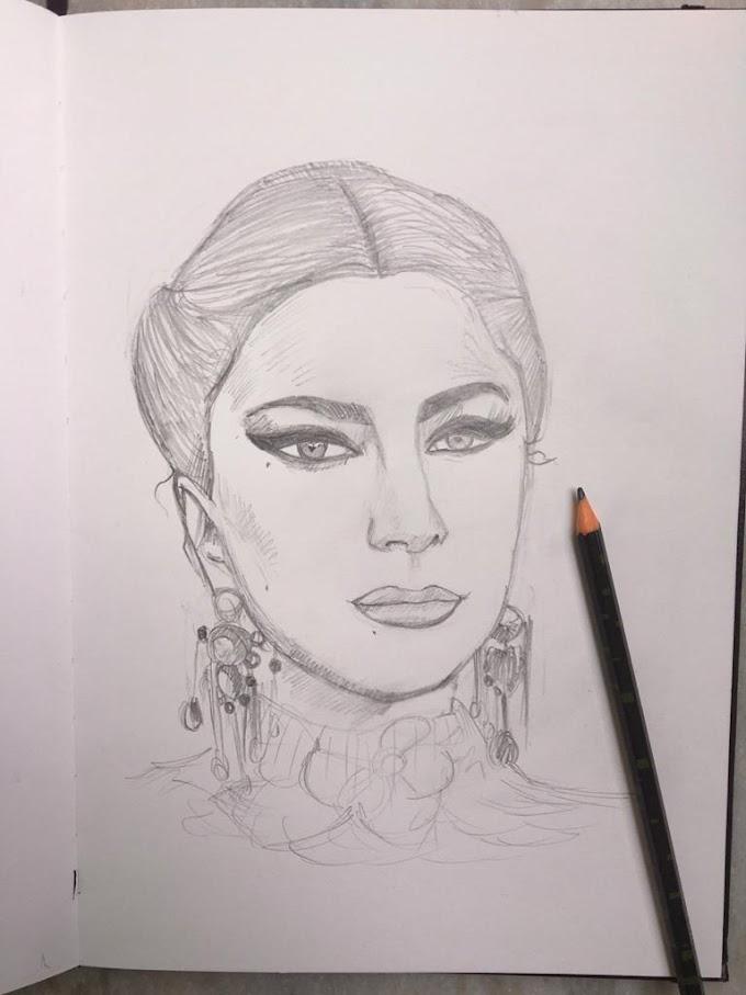 Quick Portrait of Lady Gaga