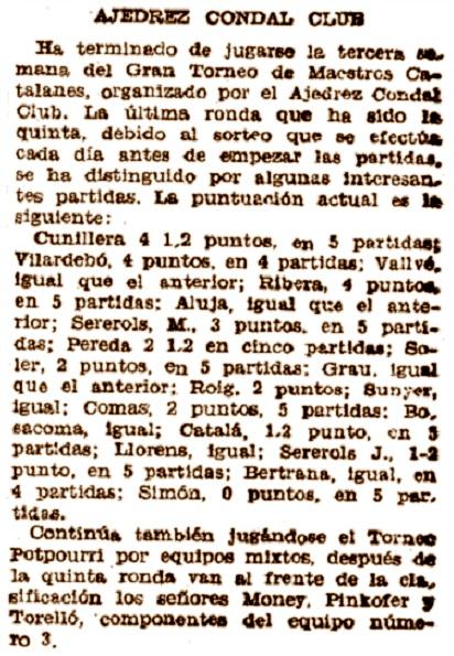 Recorte del Mundo Deportivo, 26/4/1934