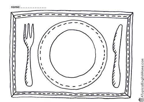 a typical english home printable placemats for kids to color. Black Bedroom Furniture Sets. Home Design Ideas