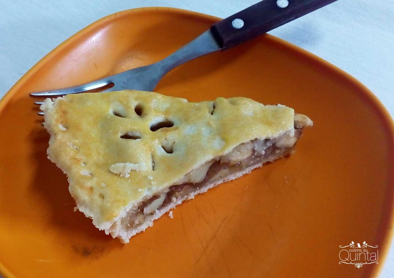 Torta de maçã na Cozinha do Quintal