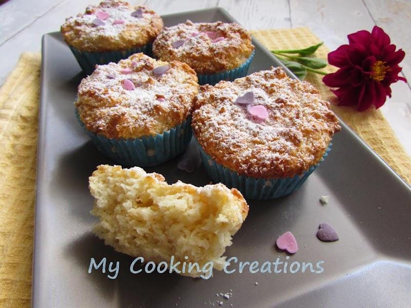 Пухкави кокосови мъфини без брашно * Muffin al cocco senza farina