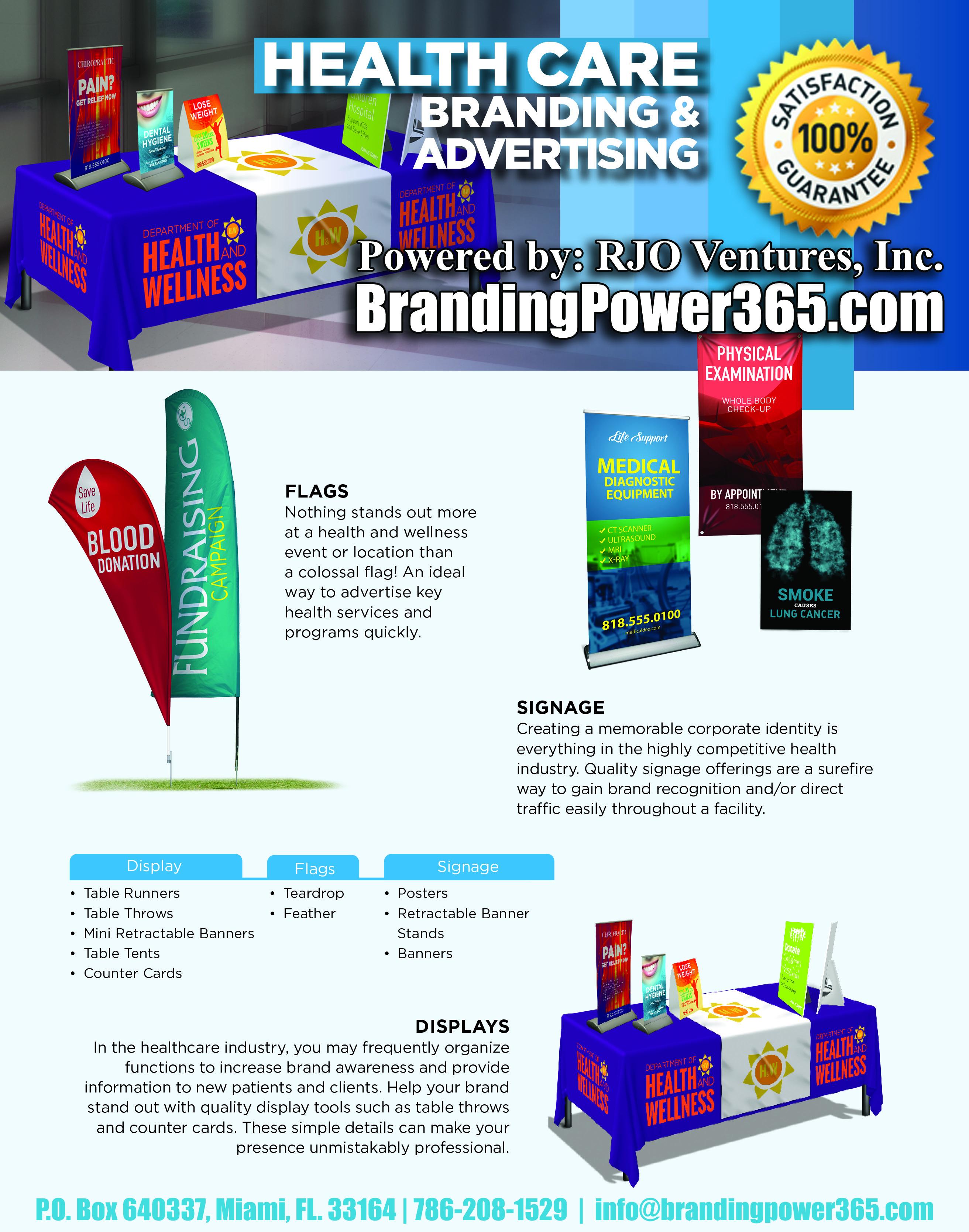 Healthcare Branding and Advertising (BrandingPower365.com). Powered by RJO Ventures, Inc.
