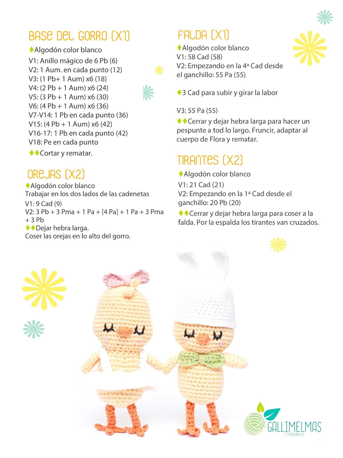 Free Patterns: ¡CAL de primavera con el Pollito Floro y Puntos de ...