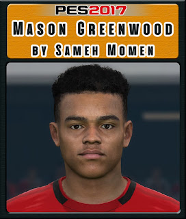 PES 2017 Faces Mason Greenwood by Sameh Momen
