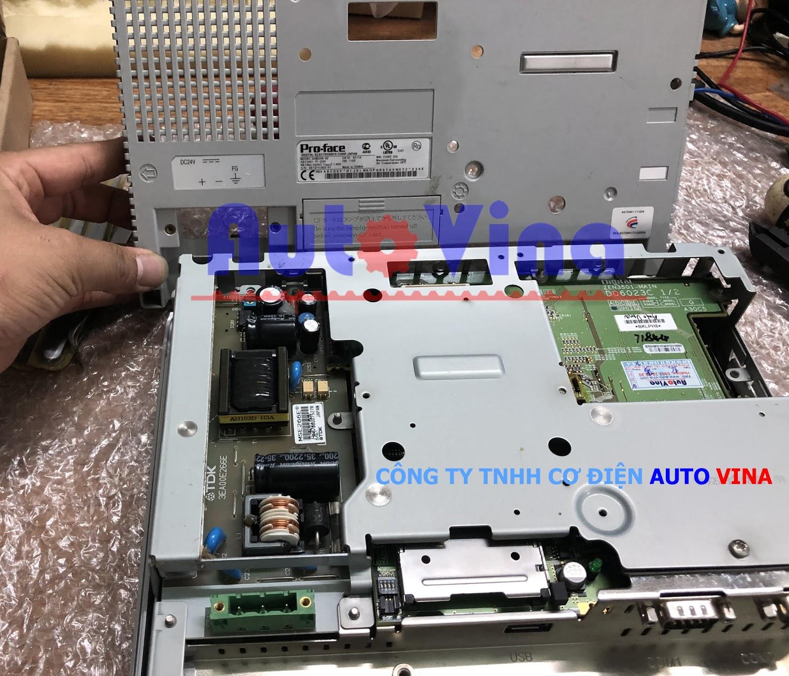 Sửa màn hình cảm ứng HMI Proface AST3501-T1-D24 không lên nguồn