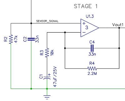 PIR sensor schematic - stage 1