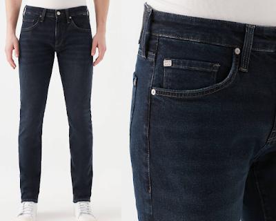 KVNÇ Serisi Gece Mavi 90s Urban Black Jean Pantolon
