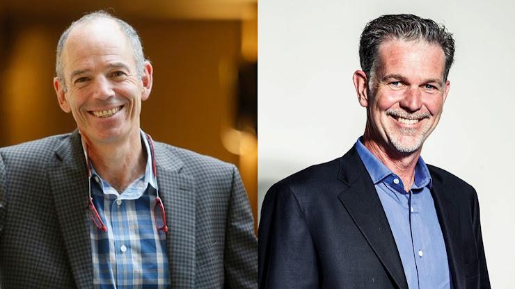 Fundadores de Netflix - Reed Hastings y Marc Randolph