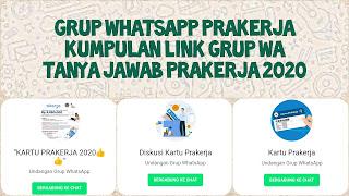 Link grup whatsapp prakerja