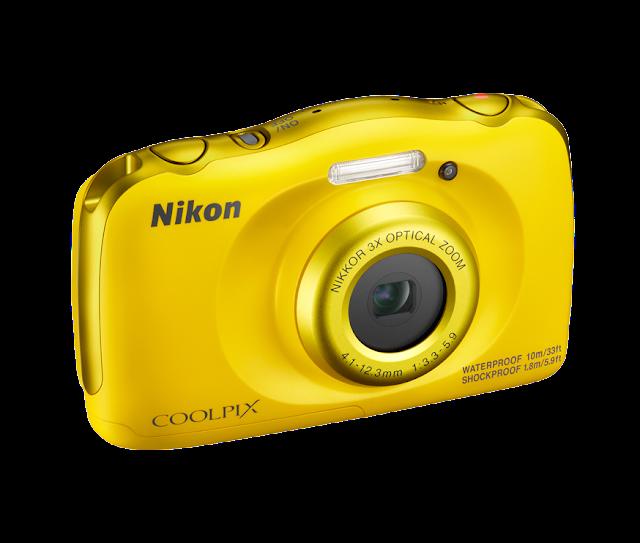 كاميرا نيكون Nikon Coolpix w100 بلون اصفر